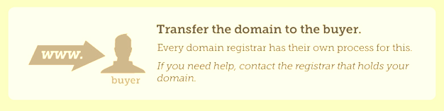 Transfer domain to your buyer